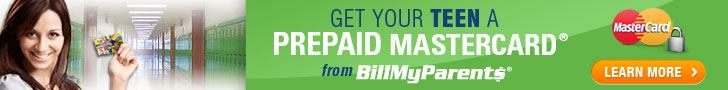 BillMyParents® Reloadable Prepaid MasterCard®