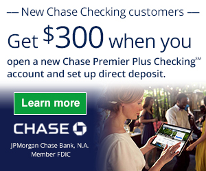 Chase Premier Platinum Checking – Comes with all the Chase Premier Plus Checking features plus No Chase Fee on all non-Chase ATM transactions, no overdraft protection transfer fee, no incoming wire transfer fee or stop payment fee and priority telephone service.