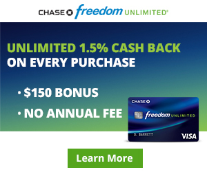Chase Freedom Unlimited® - Banner