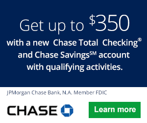 Chase Total Checking and Savings Combo Bonus