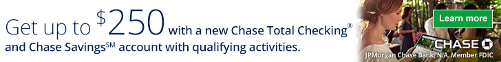 Chase Total Checking® and Chase Savings℠ bonus offers