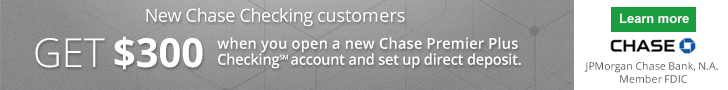 Chase Premier Plus Checking Promotion