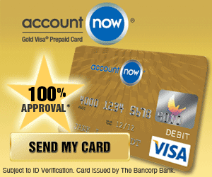 AccountNow® Gold Visa® Prepaid Card