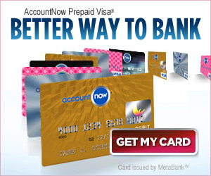 AccountNow<sup>&#174;</sup> Prepaid Visa<sup>&#174;</sup> Card