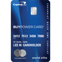 Capitol One Gm Card >> GM BuyPower Card from Capital One® - Up To 5% Earnings On Purchases