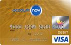 Account Now Gold Visa<sup>&#174;</sup> Prepaid Card