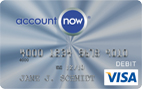 AccountNow<sup>®</sup> Prepaid Visa<sup>®</sup> Card&#8221; width=&#8221;142&#8243; height=&#8221;89&#8243; border=&#8221;0&#8243;></a>AccountNow Prepaid Visa offers customers an alternative to &#8220;traditional&#8221; checking accounts and access to the financial and payment systems, including: Debit MasterCard or Prepaid Visa, free Paycheck Direct Deposit, free Online Bill Pay, and your deposits are insured by the FDIC.</p> <p><b>AccountNow<sup>®</sup> Prepaid Visa<sup>®</sup> Card</b></p> <ul> <ul> <ul> <li>$0 Monthly Fee</li> <li>No Minimum Balance</li> <li>No Credit Check. No Overdraft Fee.</li> <li>Free Direct Deposit and Online Bill Payment</li> <li>Use it everywhere Visa Debit Card accepted</li> <li>Now with Purchase Rewards</li> <li>Perfect for Occasional Usage</li> </ul> </ul> </ul> <p><a href=