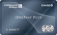 Continental Airlines OnePass Plus Card