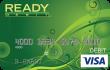 READYdebit<sup>®</sup> Visa Mint Control Prepaid Card