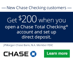 Chase Bank Bonus Coupon Codes
