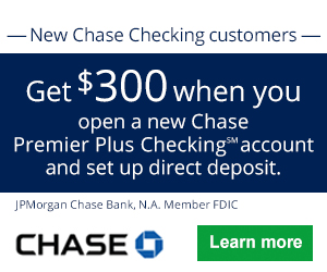 Chase bonus coupon for Premier Plus Checking℠