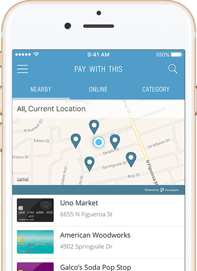 Never miss out on credit card rewards again. Wallet shows you which card to use.
