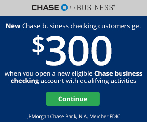 new eligible Chase business checking account