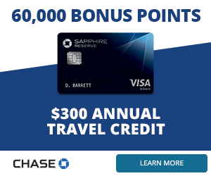 Chase Sapphire Reserve - Banner