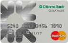 Citizens Bank Clear Value™ MasterCard®