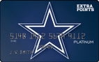 Dallas Cowboys Extra Points Credit Card