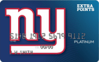 NY Giants Extra Points Credit Card