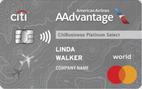CitiBusiness® / AAdvantage® Platinum Select® World Mastercard®