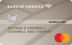 Bank of America® Platinum Plus® Mastercard® Business card