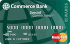 Commerce Bank Special Connections<sup>&#174;</sup> MasterCard<sup>&#174;</sup> with Rewards