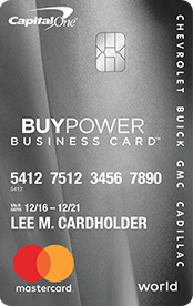 GM BuyPower Business Card from Capital One®