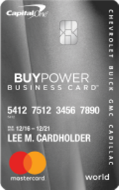 GM BuyPower Business Card from Capital One® review
