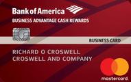 Bank of America® Business Advantage Cash Rewards Mastercard® credit card