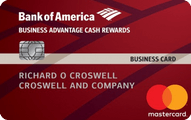 Bank of America Cash Rewards for Business Mastercard credit card Application