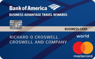 Bank of America® Business Advantage Travel Rewards World Mastercard® review