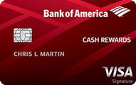 Bank of America Cash Rewards Credit Card Application