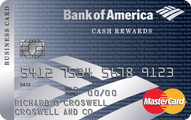 Bank of America Cash Rewards for Business MasterCard Card Application