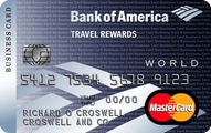 Bank of America Travel Rewards World Mastercard for Business credit card Application