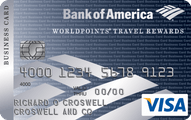 Bank of America® WorldPoints® Travel Rewards for Business Visa® Card Application