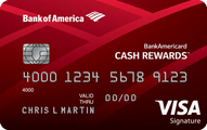 BankAmericard Cash Rewards Credit Card Application