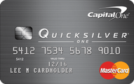 Capital One QuicksilverOne  Cash Rewards Credit Card Application