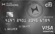Citi� Hilton HHonors<sup>TM</sup> Reserve Card