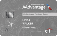 CitiBusiness / AAdvantage Platinum Select World MasterCard Application