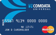 Comdata Universal FleetCard MasterCard Application