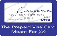 Cupre Prepaid Visa® Card