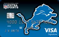 Detroit Lions Extra Points Credit Card
