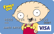 Family Guy CARD.com Visa Account Prepaid Card Application