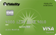 Fidelity Rewards Visa Signature Card Application