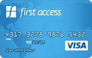 The First Access VISA Credit Card Application