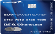 GM BuyPower Card from Capital One Application