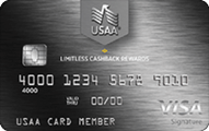 Limitless cashback rewards visa signature credit card 01817