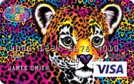 Lisa Frank CARD.com Visa Account Prepaid Card Application