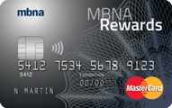MBNA Rewards MasterCard® credit card
