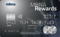 MBNA Rewards World Elite MasterCard® credit card