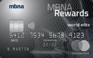 MBNA Rewards World Elite® Mastercard® credit card