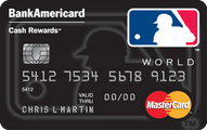 MLB BankAmericard Cash Rewards MasterCard Application